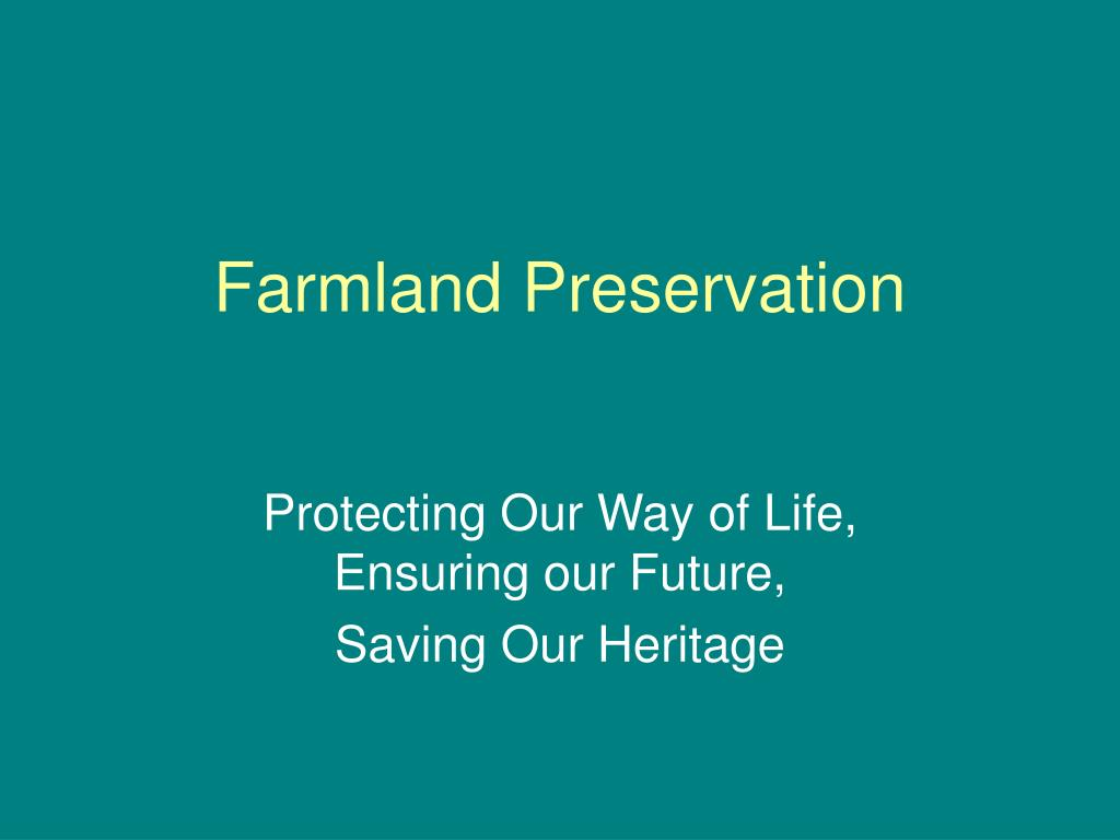 farmland preservation l.