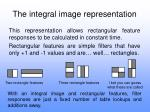 the integral image representation14