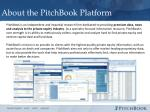 about the pitchbook platform