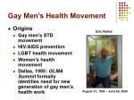 gay men s health movement