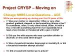 project crysp moving on2