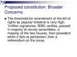 proposed constitution broader concerns18