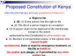proposed constitution of kenya coe psc 23th february 2010 and published on 6 th may 2010