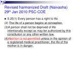 revised harmonized draft naivasha 29 th jan 2010 psc coe
