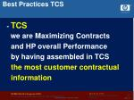 best practices tcs