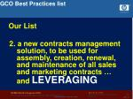 gco best practices list36