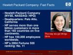 hewlett packard company fast facts6