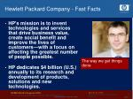 hewlett packard company fast facts7