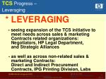 tcs progress leveraging