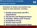 what we looked for in a contract management solution