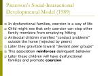 patterson s social interactional developmental model 198912