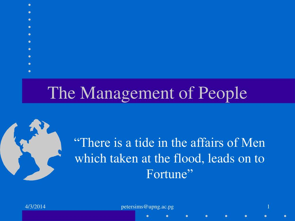 the management of people l.