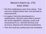 nature s aspirin p 172 ester ether