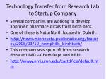 technology transfer from research lab to startup company