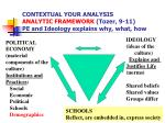 contextual your analysis analytic framework tozer 9 11 pe and ideology explains why what how