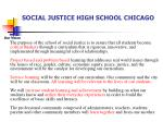 social justice high school chicago
