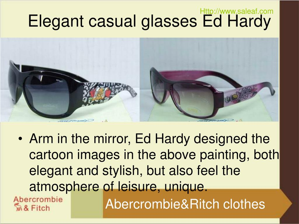 elegant casual glasses ed hardy l.