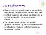 uso y aplicaciones