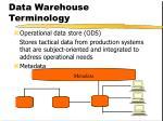 data warehouse terminology