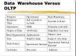 data warehouse versus oltp