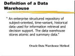 definition of a data warehouse