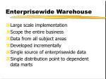 enterprisewide warehouse