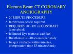 electron beam ct coronary angiography