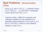 real problems discrete surface fitting