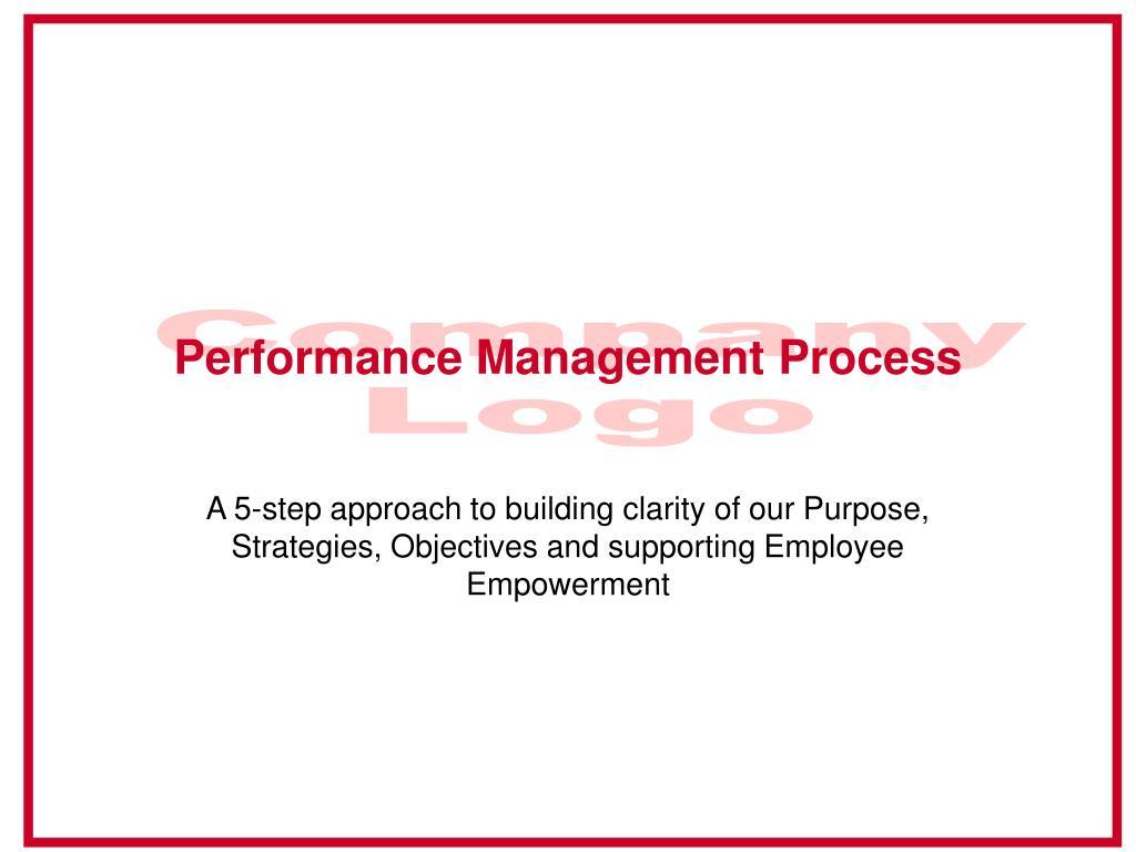 performance management process l.