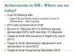 achievments in db where are we today