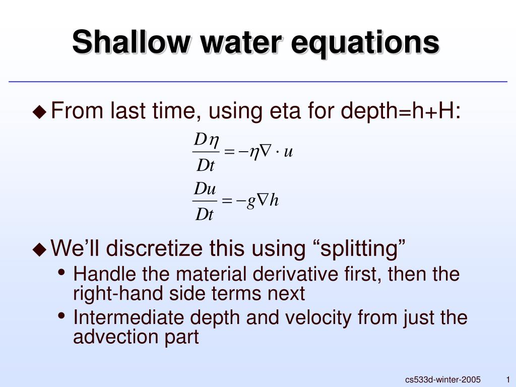 shallow water equations l.