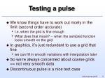 testing a pulse