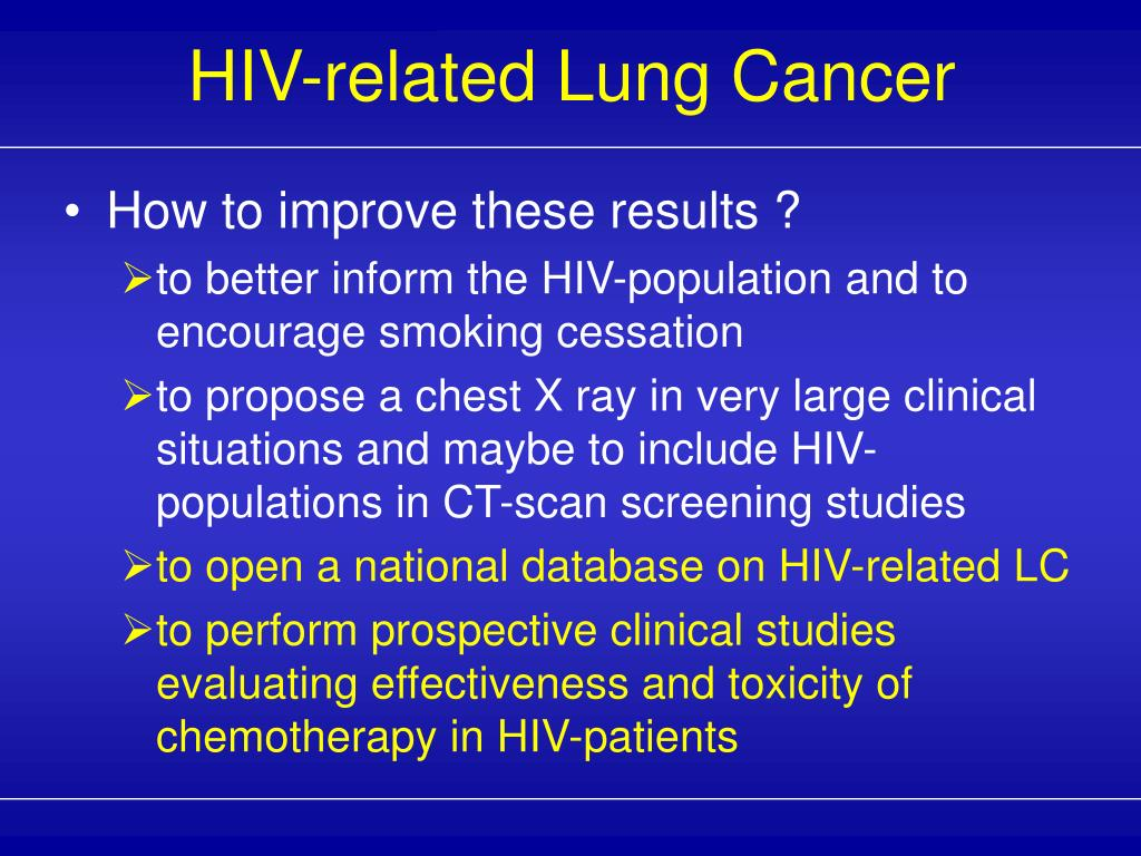 HIV-related Lung Cancer