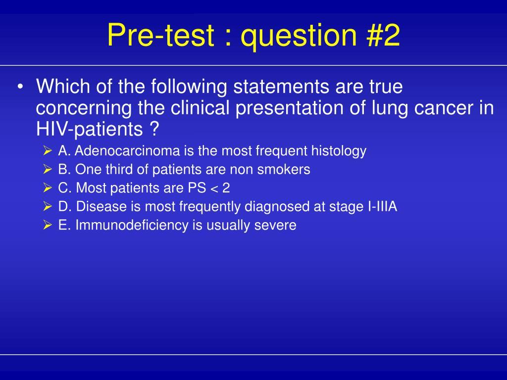 Pre-test : question #2