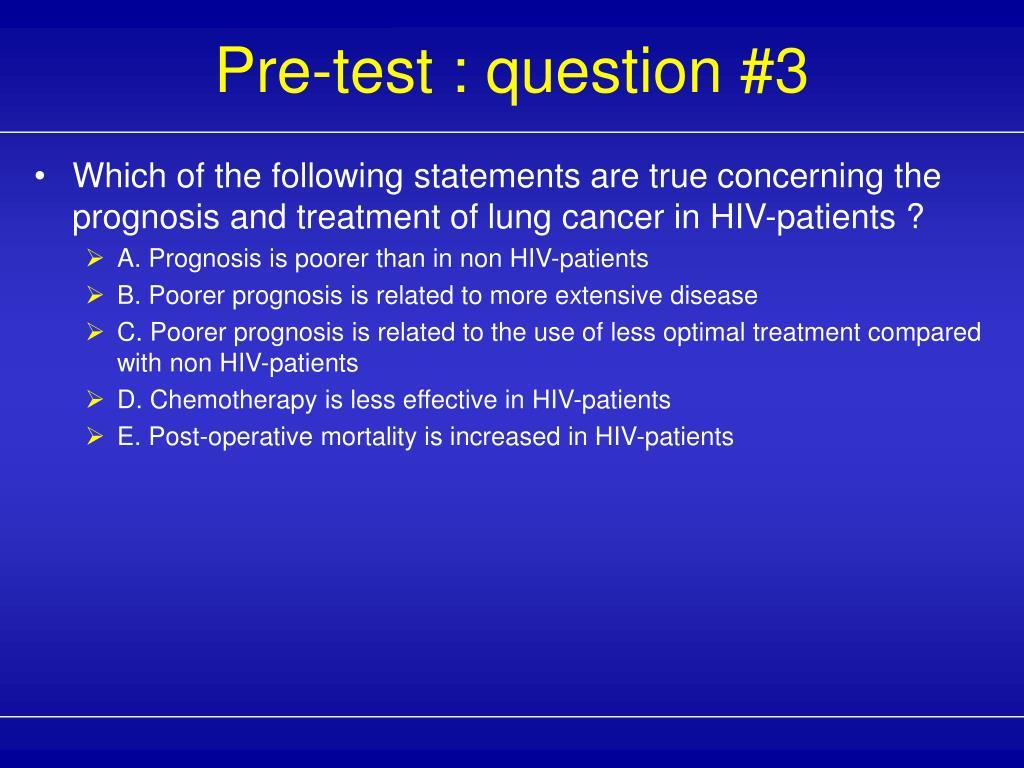 Pre-test : question #3