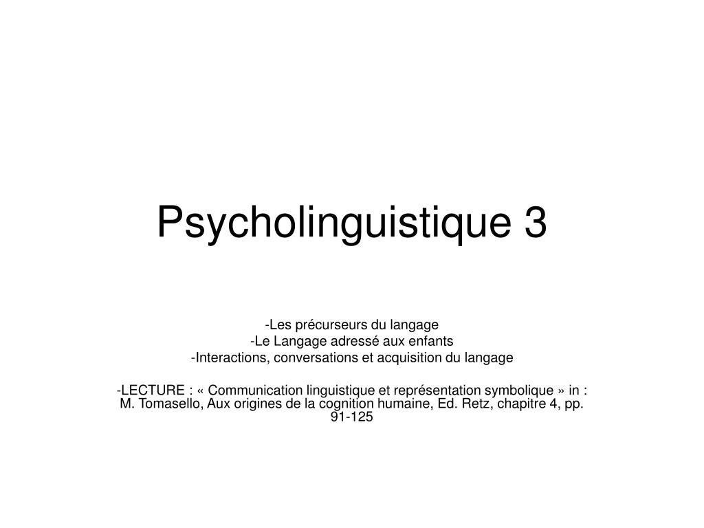 psycholinguistique 3 l.