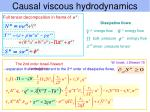 causal viscous hydrodynamics6