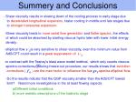 summery and conclusions