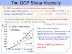 the qgp shear viscosity