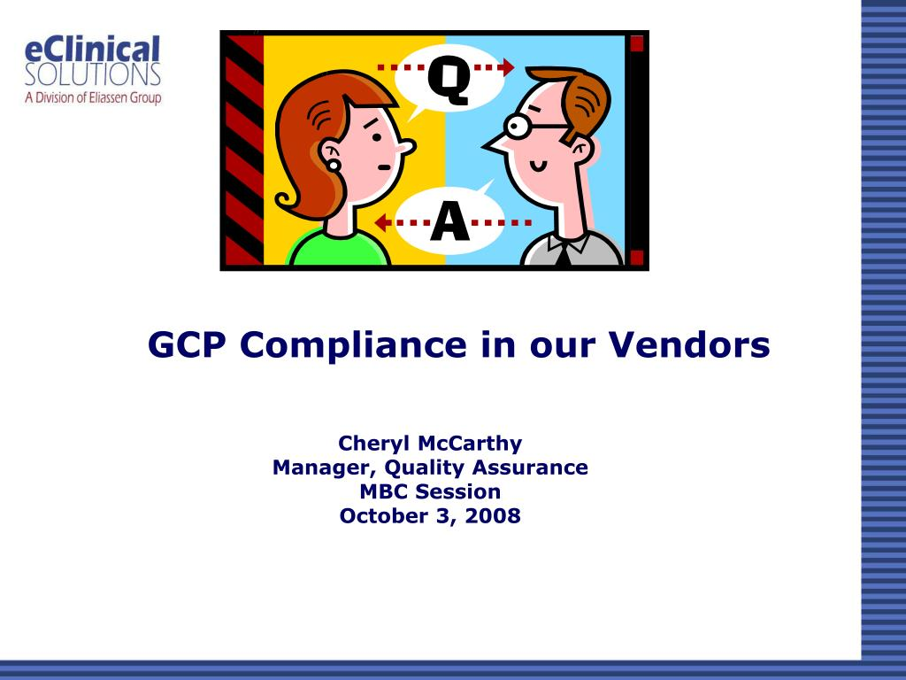 gcp compliance in our vendors l.