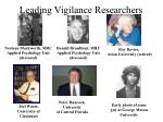 leading vigilance researchers
