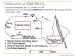 verification of deepsoil