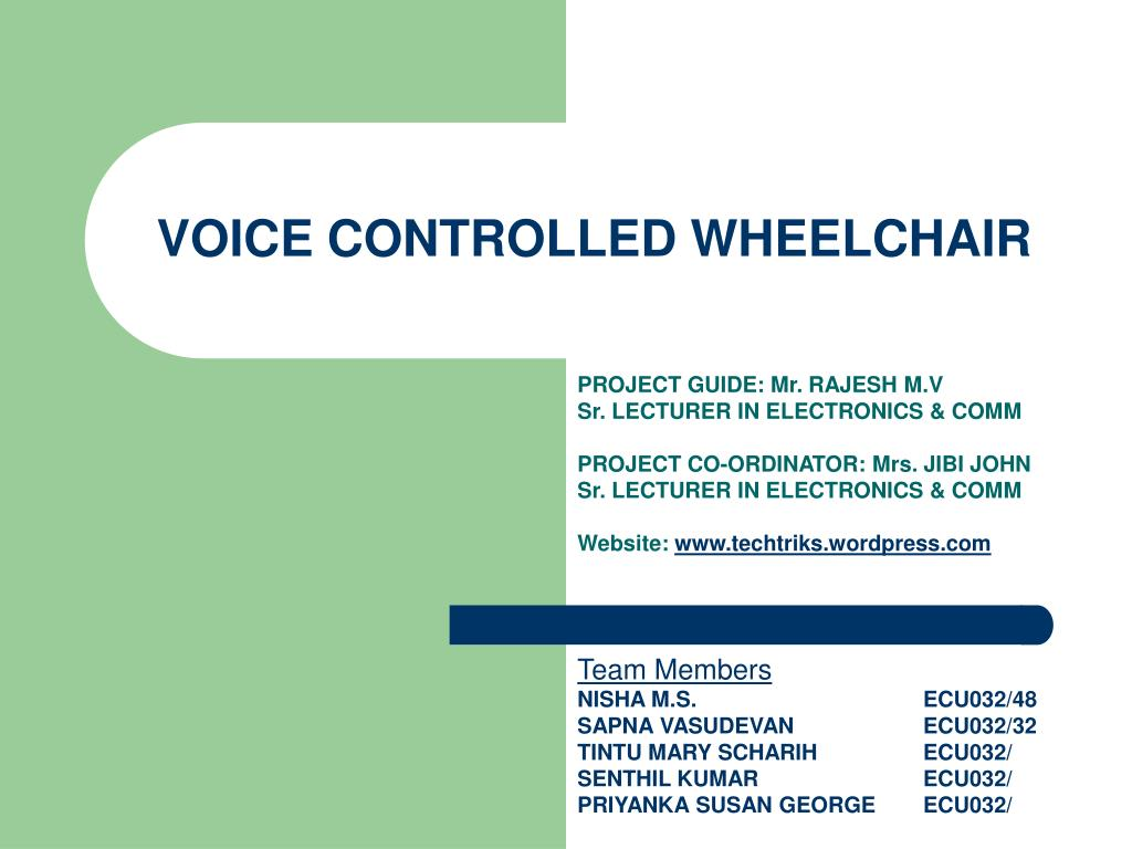 voice controlled wheelchair l.