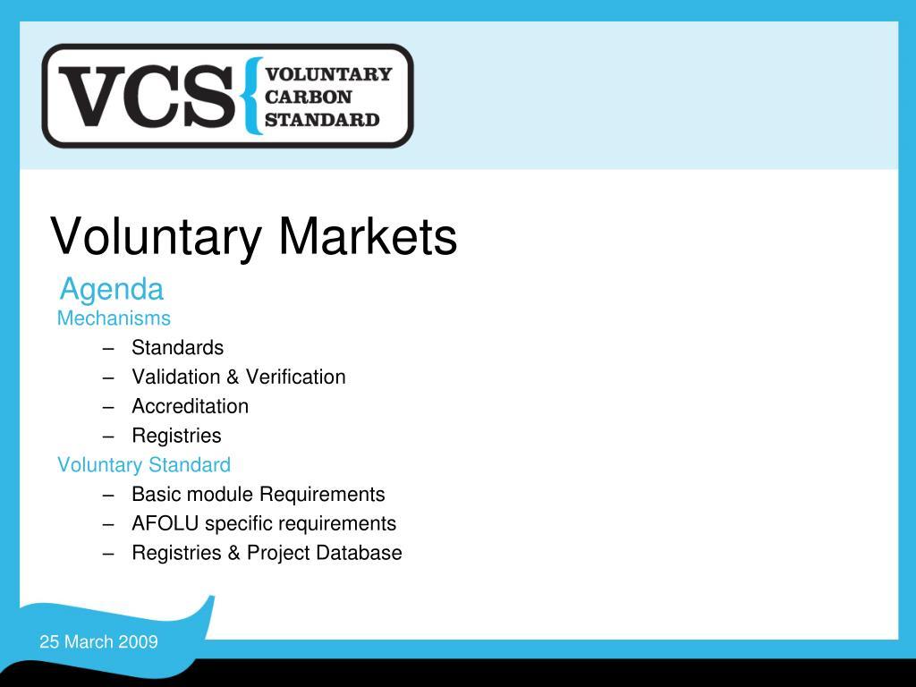 voluntary markets l.