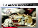 la orden sacerdotal