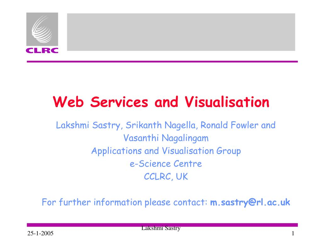 web services and visualisation l.