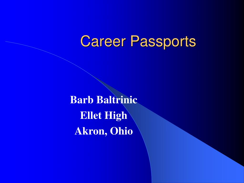 Career Passports