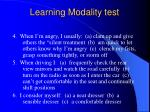 learning modality test15
