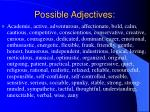 possible adjectives