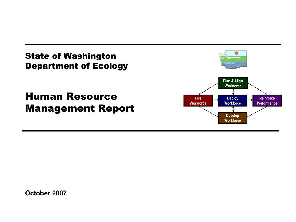 state of washington department of ecology human resource management report l.